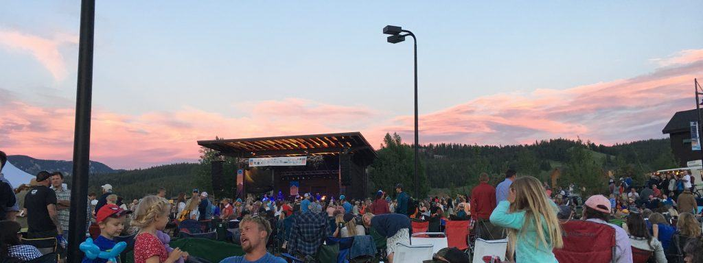 big sky town center music in the mountains